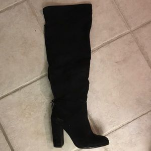 MIX No. 6 Tall black knee high boots